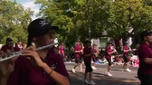 celebration : steadicam with marching band in parade