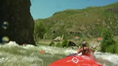 POV white water kayaking Wideo