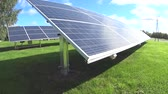 Small scale solar power plant Stock Footage