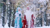 explodindo : Two fairy-tale characters enjoying the time in snowy forest