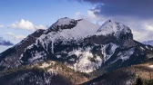 carpathian mountains : View towards Havran Peak in Tatra Mountains in Slovakia - Time Lapse Video 50 fps Stock Footage