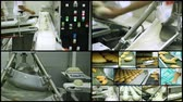 Bakery Factory Bread. Industrial production line for bread making.