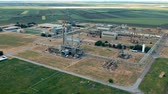 Oil Refinery Aerial Drone Video