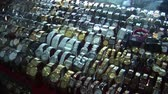 brooch : Watches for sale in an asian market place Stock Footage