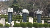 South Korean Temple stones Стоковые видеозаписи