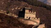 Great wall of China Стоковые видеозаписи