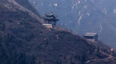 sunbeams : Great wall of China Stock Footage