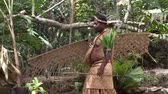 geleneksel : South Pacific Tribe Natives Stok Video