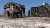 kyushu : Battleship Island Japan Stock Footage