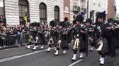 трилистник : St Patricks Day Dublin Band Стоковые видеозаписи