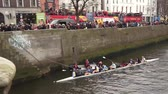 river liffey : St Patricks Day Rowing Race Dublin