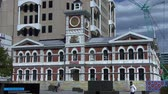christchurch : Christchurch Clock Tower Buildings Stock Footage