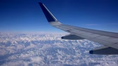 mountain view from the plane Stock Footage