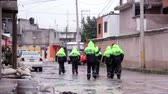 incapacidade : C. Izcalli, State of Mexico 06Sep17. Policemen patrol the streets to help the population due the flood by the collapse of the dam El Angulo during torrential rains that affected the area.