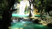 el : CHIAPAS, MEXICO (TILT UP): Amazing view of one of the waterfalls in the national park El Chiflon.Chiapas state contain a lot of the most beautiful ecotourism places in Mexico. Stock Footage