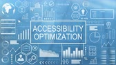 optimalisatie : Accessibility Optimization, Animated Typography Stockvideo
