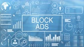 реальность : Block Ads, Animated Typography Стоковые видеозаписи