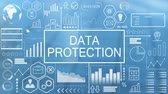 保護 : Data Protection, Animated Typography 動画素材