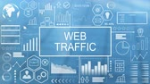 реальность : Web Traffic, Animated Typography Стоковые видеозаписи