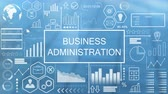 administrativo : Business Administration, Animated Typography Stock Footage