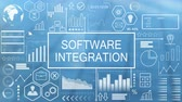 integrare : Software Integration, Animated Typography Filmati Stock