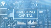 yatırım yapmak : Investing Capital, Animated Typography Stok Video