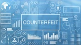 futuristic concept : Counterfeit, Animated Typography