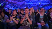 sektör : MOSCOW, RUSSIA - 14th SEPTEMBER 2019: esports Counter-Strike: Global Offensive event. Fans on a tribunes cheering and supporting for thier favorite teams.