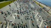 outdoors : HD - City marathon. Top view