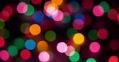 vibrante : 4K - Abstract Christmas lights background. slow blinks Vídeos