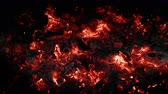 4K - Burning coals. looped video