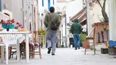 Old town in Cyprus. Limassol Stock Footage