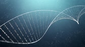 physics : DNA double helix medical background Stock Footage