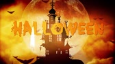 Halloween haunted castle background