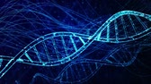 клон : DNA double helix medical background Стоковые видеозаписи