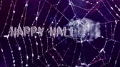 morcego : Happy Halloween spider web Stock Footage