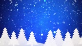 jinovatka : Snow falling on blue winter background Dostupné videozáznamy
