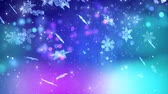 január : Winter snowflakes falling. Winter wonderland background