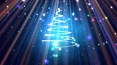 decorative symbol : Sparkle Christmas tree winter holiday background Stock Footage