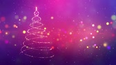 kokarda : Magic Christmas tree sparkles. Winter holidays background
