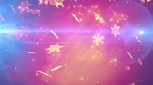 wintertime : Winter holidays magic snowflakes falling Stock Footage