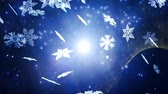 wintertime : Winter background with silver snowflakes Stock Footage