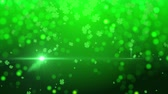 ireland : St. Patrick green lucky clover background Stock Footage