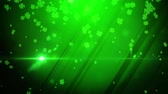 трилистник : St. Patrick green lucky clover background Стоковые видеозаписи