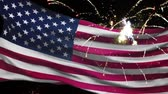 четверть : 4th of july american flag and fireworks