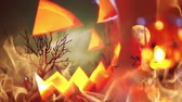 incubo : Spooky pumpkin haunted Halloween background