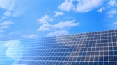 Photovoltaic cells. Electricity by solar panels Stock Footage