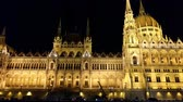 hungria : Night view of the Hungarian Parliament building in Budapest.