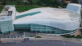 Kuala Lumpur, Malaysia: Jan 7, 2017: Aerial view of Calvary Convention Centre (CCC) Bukit Jalil Malaysia. The biggest modern church in Malaysia and the whole of Asia to be specific.