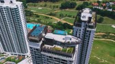 Kuala Lumpur, Malaysia - January 13, 2018: Aerial view of residential Condo in Bukit Jalil Malaysia. Wideo